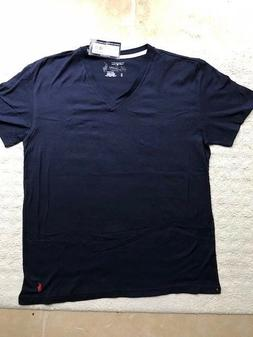 Ralph Lauren Polo Navy Blue Men's V Neck T Shirt New w/Tags-