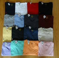 Polo Ralph Lauren New NWT V NECK Logo T Tee Shirt Assorted C