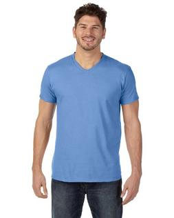 Hanes mens 4.5 oz. 100% Ringspun Cotton nano-T V-Neck T-Shir
