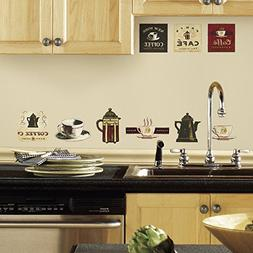 RoomMates Coffee House Peel and Stick Wall Decals