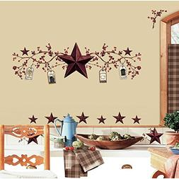 RoomMates RMK1276SCS Country Stars and Berries Peel & Stick