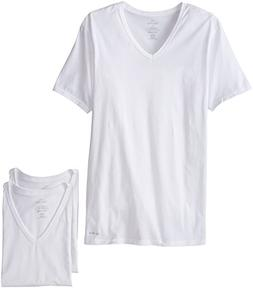 Men's Calvin Klein Slim Fit 3-Pack Cotton T-Shirt, Size Larg