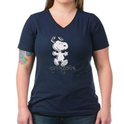 snoopy beagle hugs t shirt women s