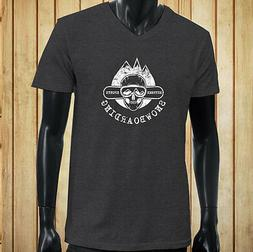 SNOWBOARDING EXTREME SPORTS SKULL SNOW MOUNTAINS Mens Charco