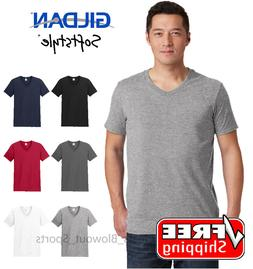 Gildan Softstyle V-Neck T-Shirt Blank Solid Soft Color Fit C