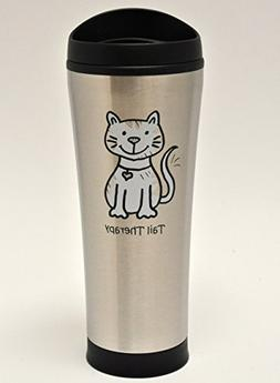Tail Therapy Cat 18-Ounce Insulated Stainless Steel Coffee T