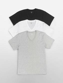 Three  Pack NEW Calvin Klein Men's Stretch Cotton V-Neck OR