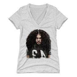 500 LEVEL Troy Polamalu Women's V-Neck Shirt Large Tri Ash -
