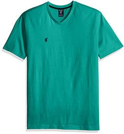 U.S. Polo Assn. Men's V-Neck T-Shirt, Island Jade, M