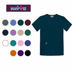 Sivvan Unisex Scrubs V-Neck 3 Pocket Top