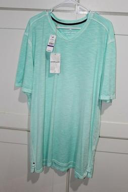 Tommy Bahama V-Neck T-Shirt 2XLT - Mint Mojito - Retail $85