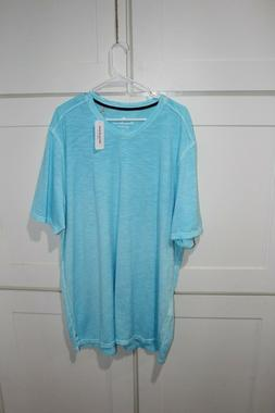 Tommy Bahama V-Neck T-Shirt 2XLT - Pool Party Blue - Retail