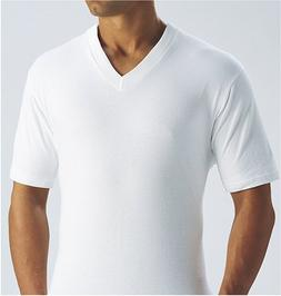 Fruit of the Loom Men's V-Neck Tee 3 Pack, White, XXX-Large