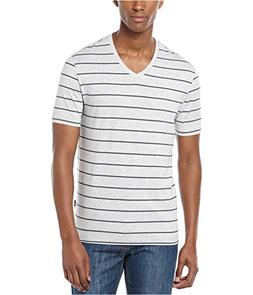 Perry Ellis Mens Wide Stripe V Graphic T-Shirt