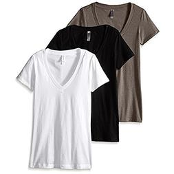 women s deep v neck tee pack