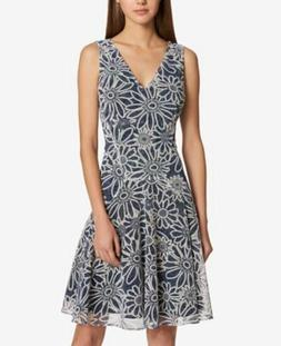 Tommy Hilfiger Women's Fit and Flare Dress Size 6 Blue & Whi