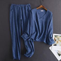 Women's <font><b>Cotton</b></font> Water-washed pajamas for
