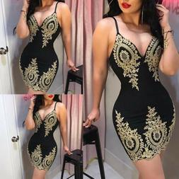 Women's Sexy V Neck Print Bodycon Clubwear Party Cocktail Ev