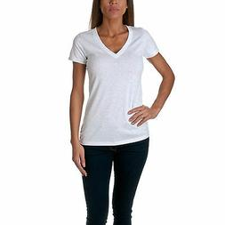 Next Level Apparel Women's Soft Deep V-Neck T-Shirt