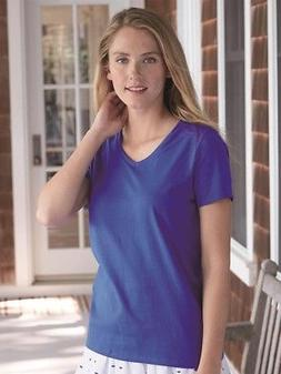 Hanes - Women's Tagless V-Neck T-Shirt - 5780