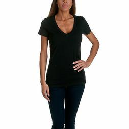 Next Level Apparel Women's The CVC Deep V-Neck Short Sleeve